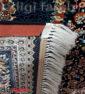 فرش ماشینی کاشان 700 شانه نیاوران طرح ارشیدا سرمه ای صددرصد اکرلیک تراکم 2550 کد 700585