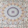 فرش ۱۲۰۰ شانه کاشان زمینه کرم تراکم ۳۶۰۰ کد ۳۶۵۱