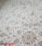 فرش 1200 شانه کاشان طرح افشان کرم تراکم 3600 کد 3659