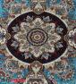 فرش ماشینی کاشان 700 شانه نیاوران آبی رنگ صددرصد اکرلیک تراکم 2550 کد 618