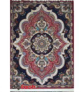فرش نیاوران کاشان 700 شانه یاسی رنگ صددرصد اکرلیک تراکم 2550 کد 618