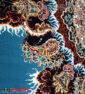 فرش ماشینی کاشان 700 شانه نیاوران طرح بهار زمینه آبی صددرصد اکرلیک تراکم 2550 کد 700596