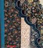 فرش ماشینی کاشان 700 شانه نیاوران طرح سلطان زمینه آبی تراکم 2550 کد 592