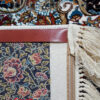 فرش ماشینی کاشان 700 شانه نیاوران طرح سلطان زمینه کرم تراکم 2550 کد 592