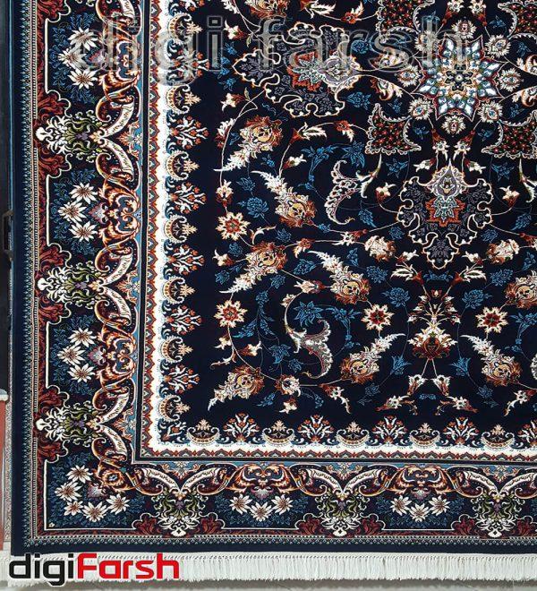 فرش کاشان طرح افشان سرمه ای کد 625