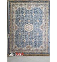فرش ۱۲۰۰ شانه گل برجسته آبی