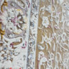 فرش ماشینی کاشان 1200 شانه نیاوران طرح افشان بژ صد در صد اکریلیک تراکم 3600 کد 12003659