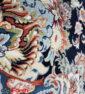 فرش ماشینی کاشان ۱۲۰۰ شانه نیاوران گل برجسته سرمه ای صد در صد اکریلیک تراکم ۳۶۰۰ کد ۱۲۰۰۳۶۸۵