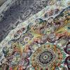فرش ماشینی کاشان 1200 شانه ستاره فروزان طرح هالیدی زمینه مشکی صد در صد اکریلیک تراکم 3600 کد 471213