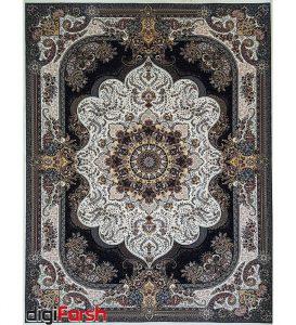 فرش ماشینی کاشان 1000 شانه ستاره فروزان طرح نسترن زمینه کرم صد در صد اکریلیک تراکم 3000 کد 471014