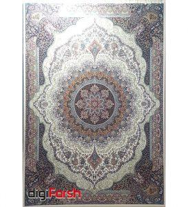 فرش ماشینی نیاوران طرح صبا کرم 700 شانه کاشان تراکم 2550 کد 700563