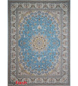 فرش ماشینی کاشان ۱۲۰۰ شانه نیاوران طرح قرآن آبی صد در صد اکریلیک تراکم ۳۶۰۰ کد ۱۲۰۰۳۶13