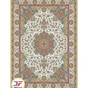 فرش ماشینی کاشان نیاوران طرح تبریز زمینه کرم 700 شانه کد 700583
