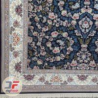 فرش نیاوران ۷۰۰ شانه طرح افشان زمینه سرمه ای کد 700642