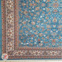 فرش نیاوران 700 شانه طرح افشان زمینه آبی کد 700611