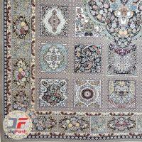 فرش نیاوران ۷۰۰ شانه طرح خشتی زمینه فیلی کد ۷۰۰646