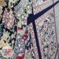 فرش نیاوران ۷۰۰ شانه طرح خشتی زمینه سرمه ای کد ۷۰۰646