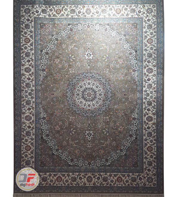 فرش نیاوران ۷۰۰ شانه طرح نایین زمینه بژ کد 700645