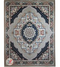 فرش نیاوران 700 شانه طرح ناردون زمینه فیلی کد 700620