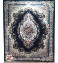فرش ۷۰۰ شانه کاشان نیاوران زمینه سرمه ای کد ۷۰۰۶۴۱