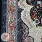 فرش ۷۰۰ شانه کاشان نیاوران زمینه سرمه ای کد 700641