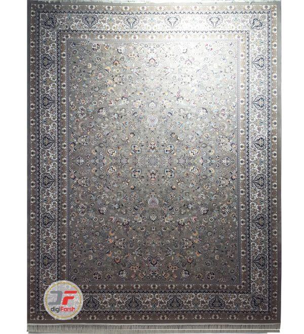 فرش نیاوران 700 شانه طرح افشان زمینه فیلی کد 700611