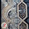 فرش ۷۰۰ شانه نیاوران کاشان طرح هالیدی زمینه سرمه ای کد 700640
