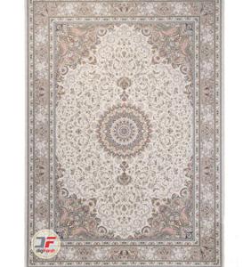 فرش محتشم 1500 شانه گل برجسته کرم طرح باران کد 541501