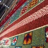 فرش ماشینی طرح گبه عشایری کد 61400061