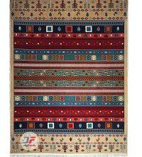 فرش ماشینی طرح گبه عشایری کد ۶۱۴۰۰۰۶۱