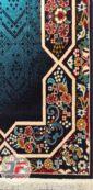 فرش گبه ماشینی سبلان طرح هالیدی زمینه سرمه ای کد 61400084