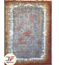 فرش کهنه نما طرح افشان ۵۰۰ شانه زمینه بژ کد ۵۳۹۱۷