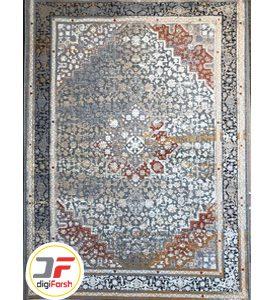 فرش ماشینی کهنه نمای کاشان زمینه فیلی کد 53910
