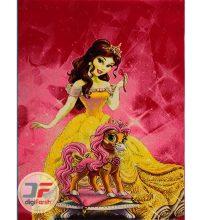 فرش ماشینی اتاق کودک بزرگمهر طرح دختر های پرنسس کد ۱۸۰۳۴