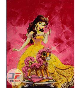 فرش ماشینی اتاق کودک بزرگمهر طرح دختر های پرنسس کد 18034