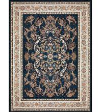 فرش ۱۲۰۰ شانه بزرگمهر طرح گل برجسته زمینه سرمه ای کد ۵۲۱۲۱۵۱۱۰