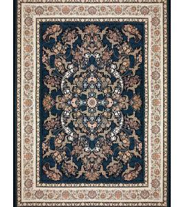 فرش 1200 شانه بزرگمهر طرح گل برجسته زمینه سرمه ای کد 52125110