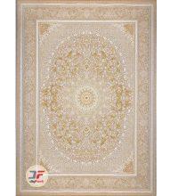 فرش بزرگمهر گل برجسته زمینه بژ کد 521011633