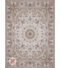 فرش بزرگمهر طرح گل برجسته 1200 شانه زمینه نقره ای کد 521251113