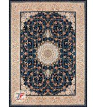فرش ۱۲۰۰ شانه کلاسیک کاشان طرح گل برجسته زمینه سرمه ای کد ۵۲۱۲۱۵۱۱۴