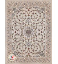 Kashan 1200 Classic Shoulder Carpet Embossed flower Design cream Background Code 521215114