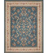 فرش کلاسیک 1200 شانه گل برجسته زمینه آبی کد 521251110