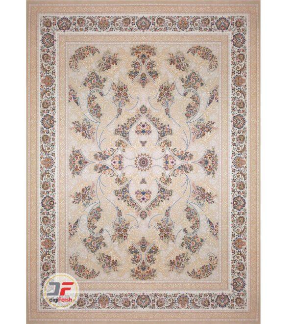 فرش 1200 شانه بزرگمهر طرح گل برجسته کد 521215110