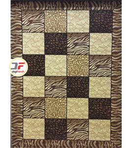 فرش سه بعدی کاشان طرح شطرنجی کد 52401228