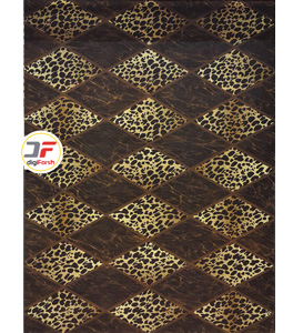 فرش سه بعدی بزرگمهر طرح پوست پلنگی کد 52401229