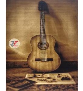 فرش سه بعدی طرح گیتار چوبی کد 524016030