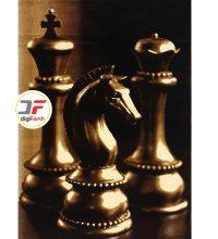 فرش سه بعدی طرح مهره های شطرنج کد 52401606