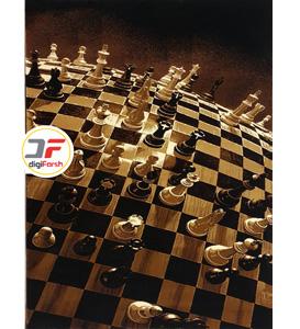 فرش سه بعدی طرح مهره های شطرنج کد 52401610