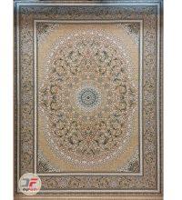 فرش گل برجسته بزرگمهر 1000 شانه زمینه بژ کد 521011605