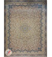 فرش بزرگمهر طرح افشان گل برجسته زمینه بژ کد 521011608